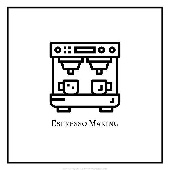 Basic Coffee Making (Espresso Making) Logo for Workshop