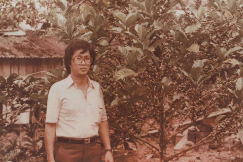 Mr Tan at a coffee farm