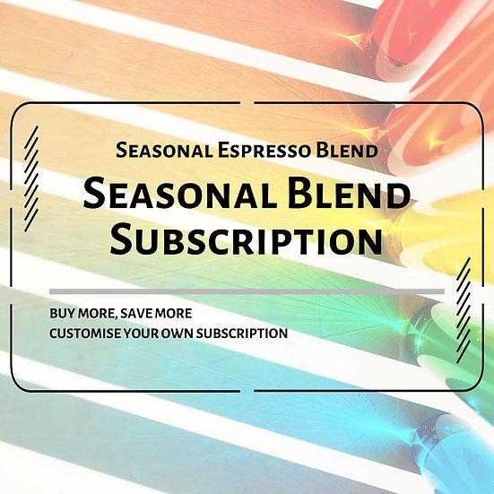 Seasonal Espresso Blends Subscription Plan
