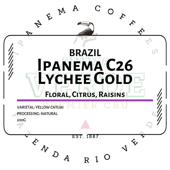 Brazil Ipanema Anima Verde C26 Lychee Gold
