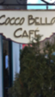 Cocco Bello Cafe sign
