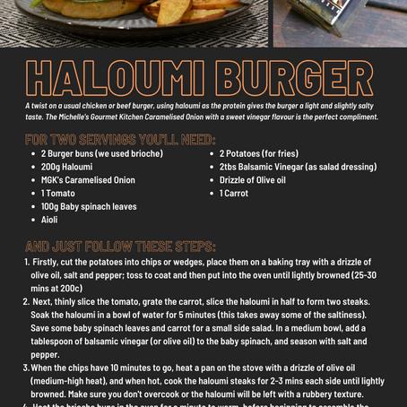 Haloumi Burger - Recipe Card