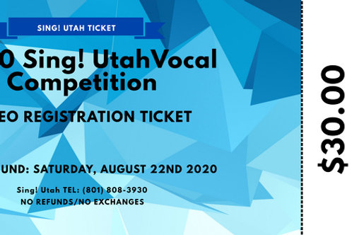 2020 Vocal Competition Registration Ticket