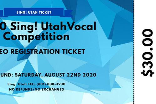 2020 Vocal Competition Registration Ticket