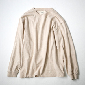 LOOP WHEEL T-SHIRT L/S