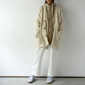 WOOL KNIT LONG CARDIGAN