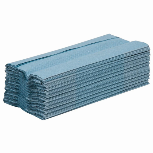 1 Ply Blue Soft C-Fold Hand Towels