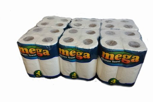 24 Thick Kitchen Towel Rolls - 6x4's