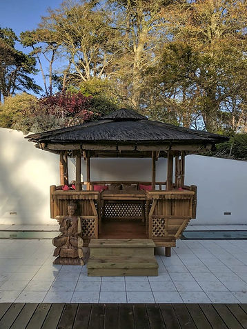 Luxury Bamboo Gazebo complete with a lar