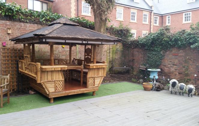 Tropical garden building in a Pub
