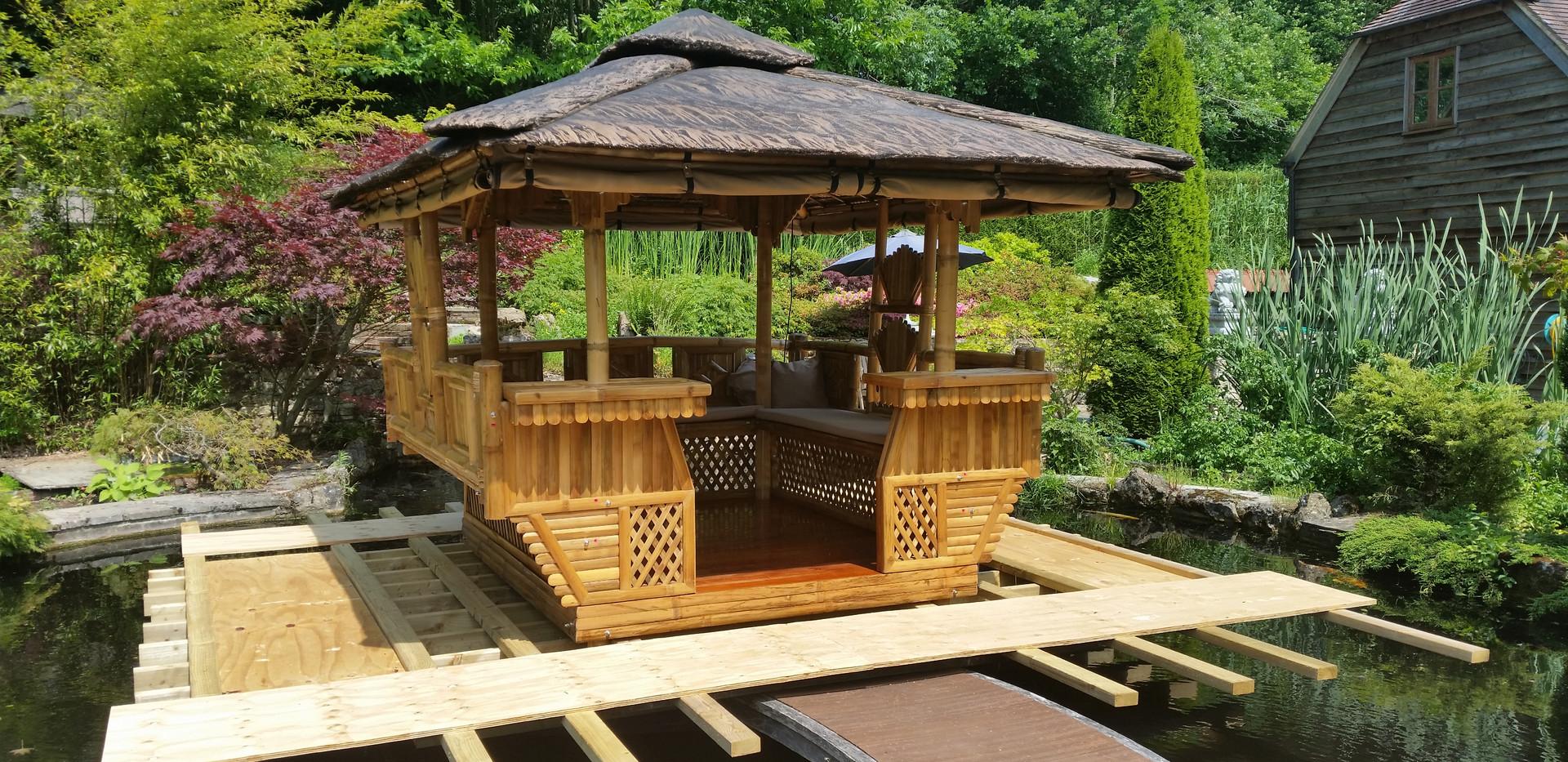 Tiki Hut on a pond