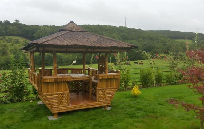 Tropical Garden Building in the English Countryside