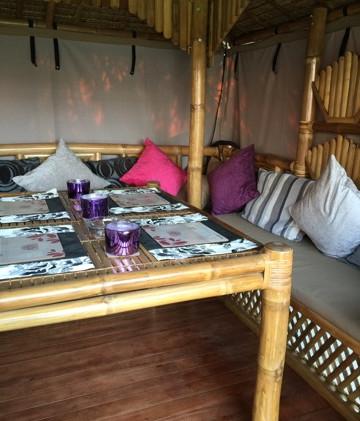 Luxury Bamboo Gazebo dining table