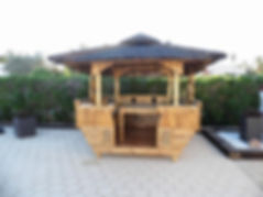 Luxury Bamboo Gazebo Beside a pool n Spa