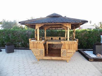 Luxury Bamboo Gazebo Beside a pool n Spa