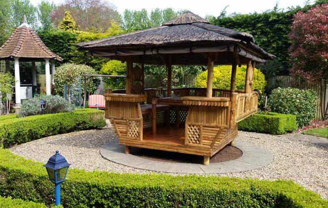 Bamboo Gazebo to repalce a water feature