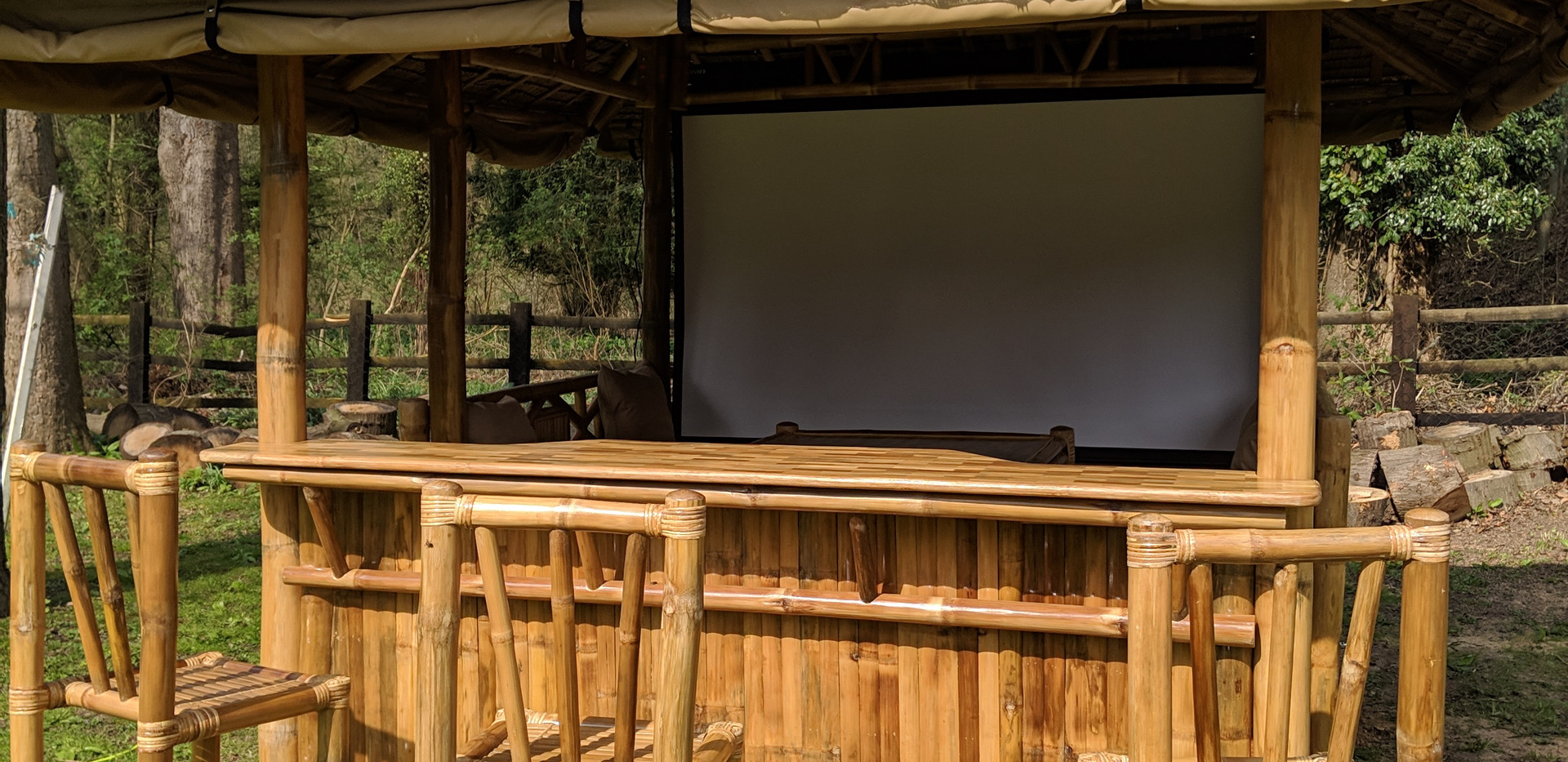 Bar Gazebo installed with Projector