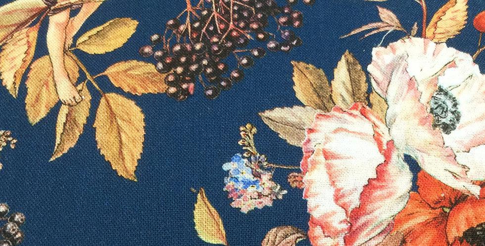 Michael Miller Fabrics - Elderberry Flower Fairies - Navy DDC8060