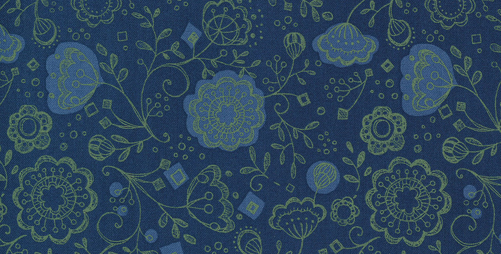 Moda Cottage Bleu 48692 18 by Robin Pickens