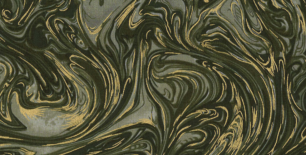 Michael Miller Marble with Metallic - CM1087 Camouflage