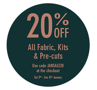 20% off All Fabric, Kits & Pre-cuts - Ja