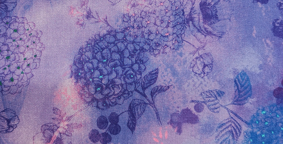 Timeless Treasures - Misty Hydrangea Air - Misty-CD6840-Violet