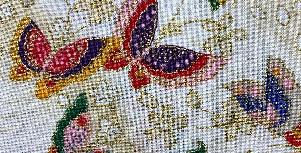 Timeless Treasures - White Butterflies 1732