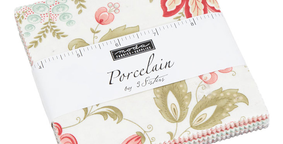 Moda - Charm Pack - Porcelain by 3 Sisters