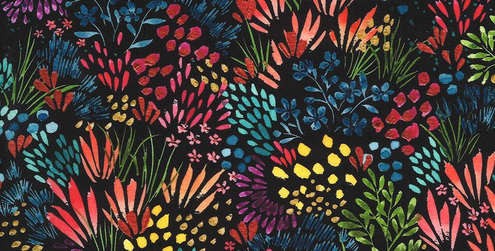 Moda Moody Bloom - 8444 12D Black by Create Joy Project