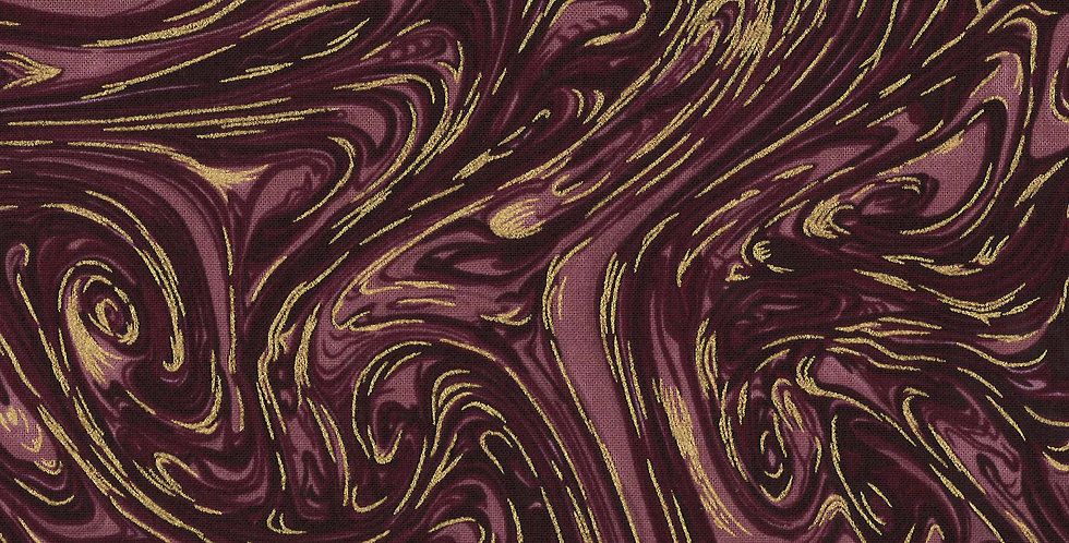 Michael Miller Marble with Metallic - CM1087 Currant