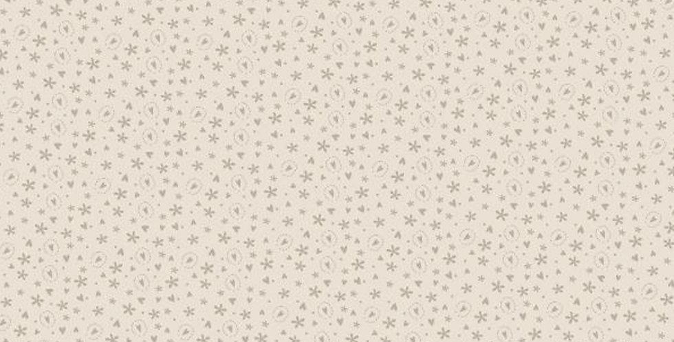 Lynette Anderson Bedrock Basics - 80430-4 Hearts Cream/Green