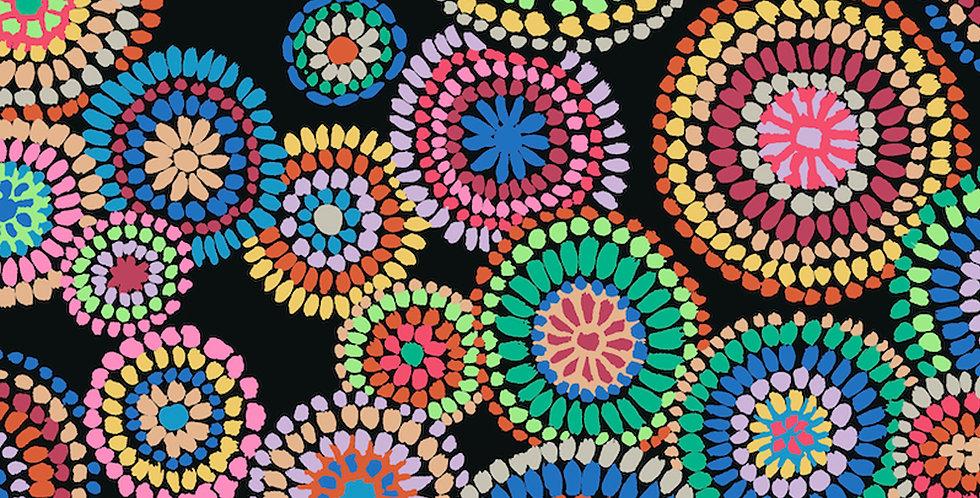 Kaffe Fassett Collective for Free Spirit - Mosaic Circles PWGP176 - Black