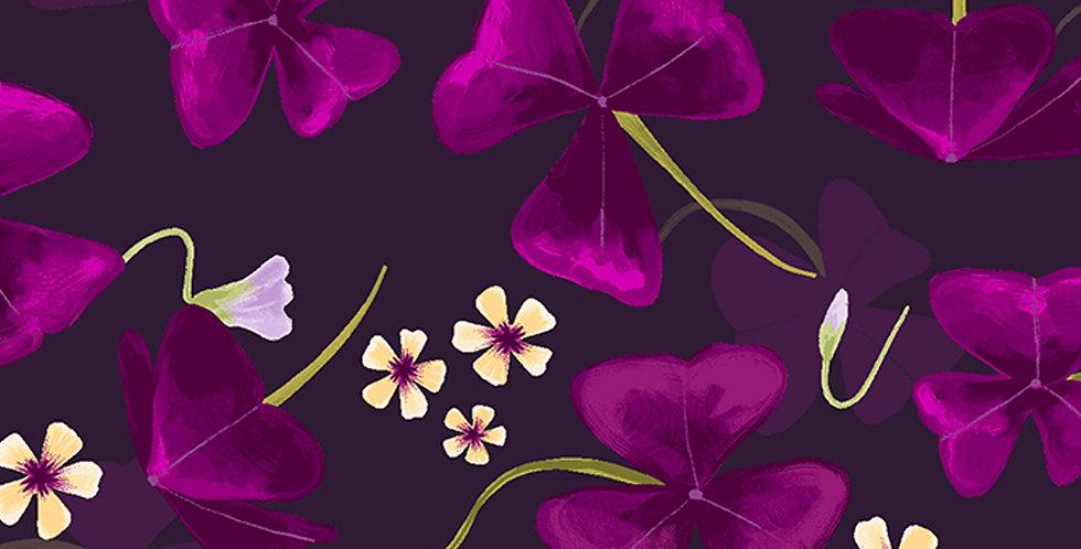 Clothworks Amethyst Garden - Y2785-95 Indigo