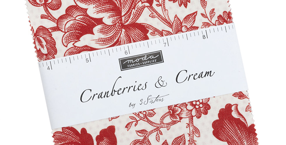 Moda - Charm Pack - Cranberries and Cream by 3 Sisters