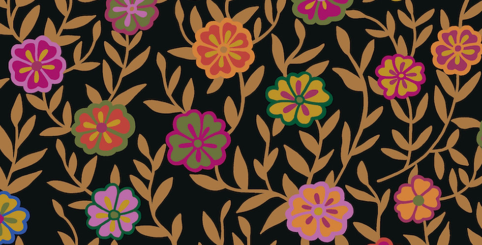 Kaffe Fassett Collective for Free Spirit - Busy Lizzy PWGP175 - Black