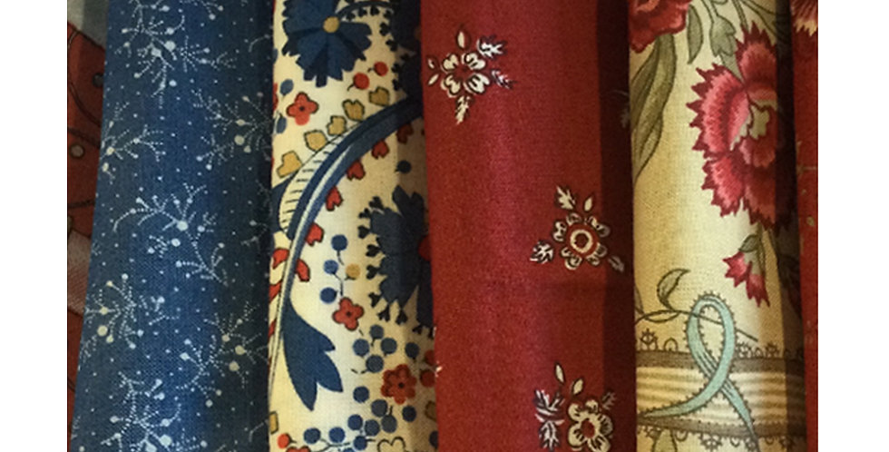 Assorted Fabric Fat Quarter Box - 6 fat quarters for the price of 5