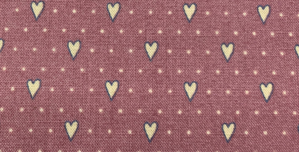 Gutterman Cotton - Veros World, Pink Hearts