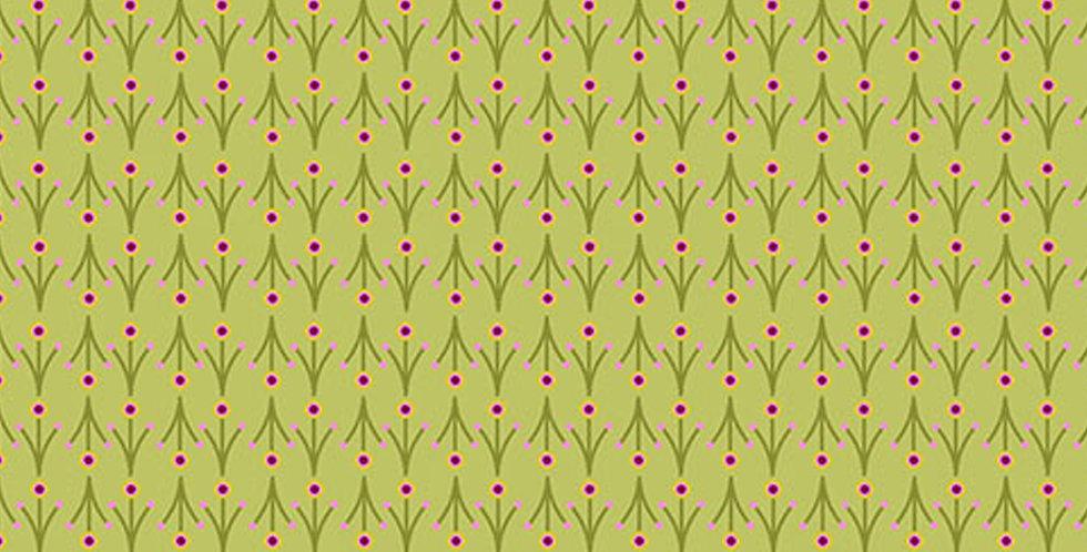 Clothworks Summer Sampler Y2993-23 Light Olive by Nancy Nicholson