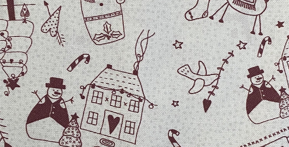 Lynette Anderson Peace and Joy 80620-3 Joy of Christmas - Warm Cream