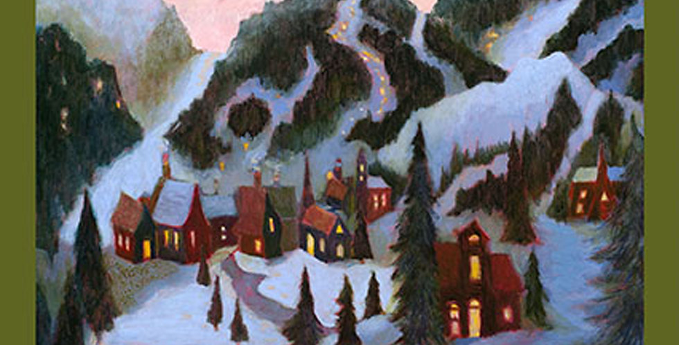 Clothworks Ski Town Y2994-55 Multi Panel by Karen Gillis Taylor