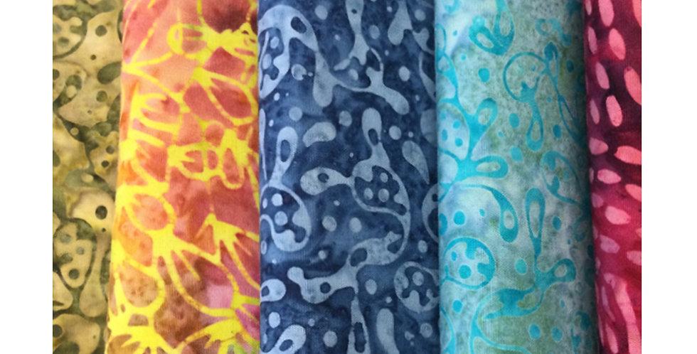 Assorted Batik Fabric Half Metre Box
