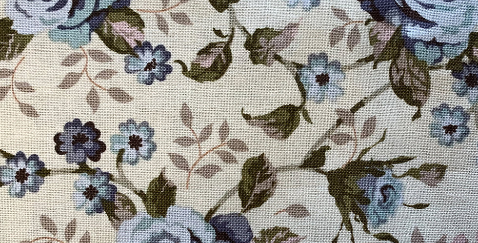 Ginger Lily Studio - Beige with Blue Flowers
