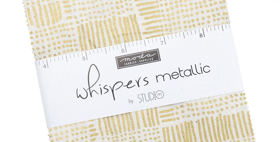 Moda - Charm Pack - Whispers Metallic by Studio M