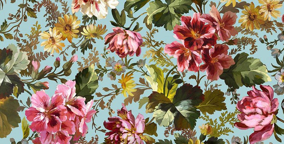 Michael Miller Splendid Bouquet Victoria's Garden - DCX9378-BLUE-D