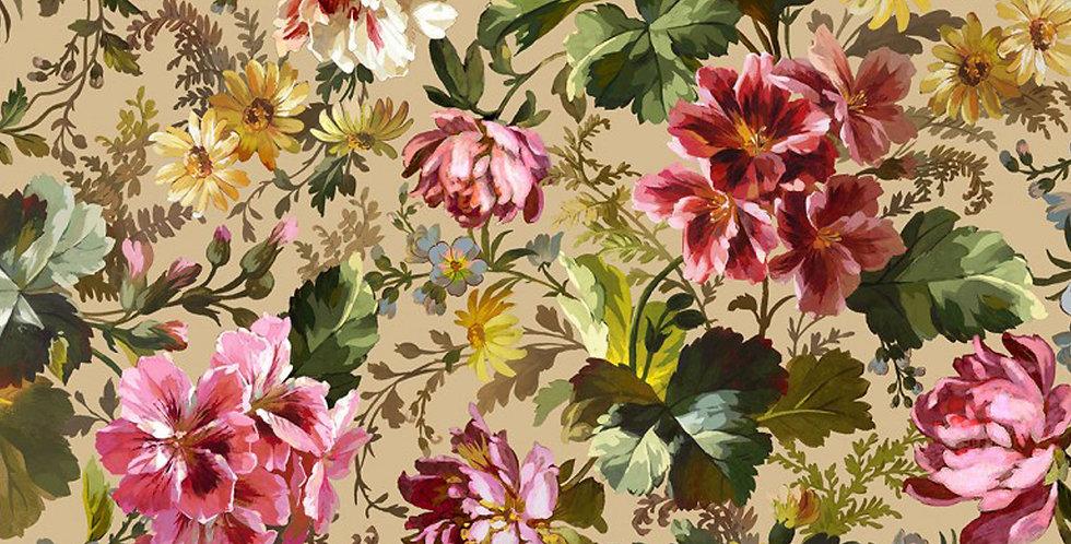 Michael Miller Splendid Bouquet Victoria's Garden - DCX9378-BEIG-D
