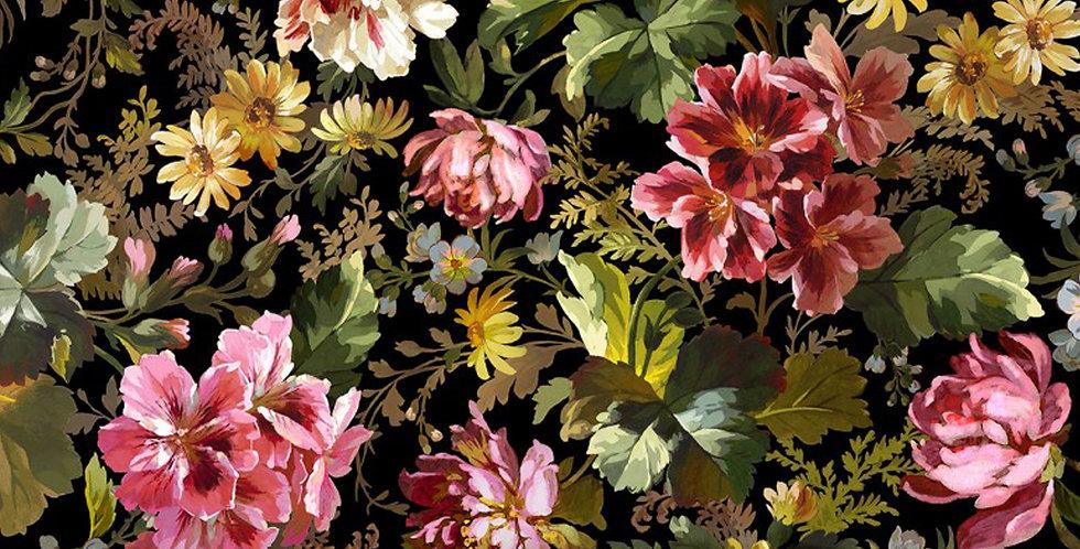 Michael Miller Splendid Bouquet Victoria's Garden - DCX9378-BLAC-D