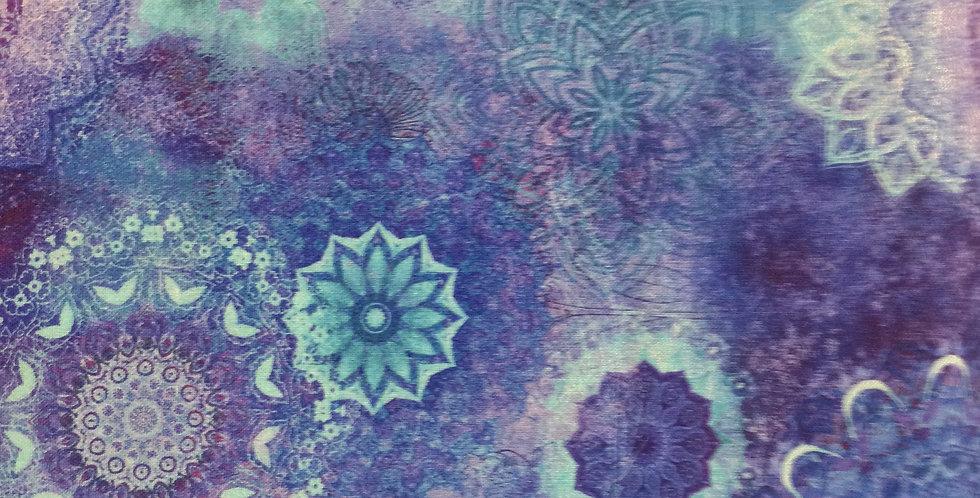 Clothworks Good Vibes - Digital Medallions Y3118-90 Blue