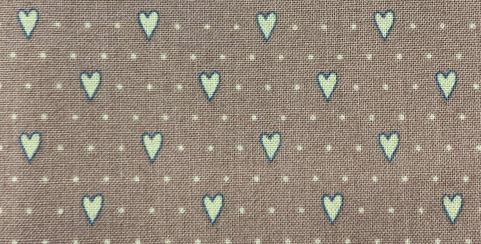 Gutterman Cotton - Veros World, Beige Hearts