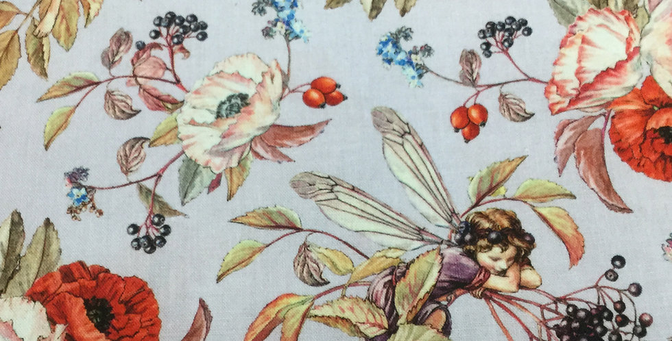 Michael Miller Fabrics - Elderberry Flower Fairies - Lavender DDC8060