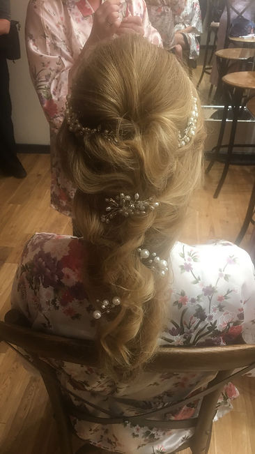 bridal hair- hair by sam
